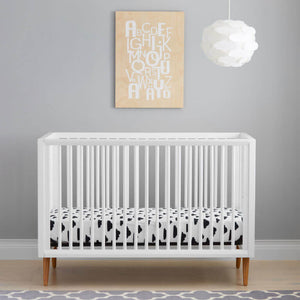 Kolcraft Roscoe 3-In-1 Convertible Crib - White - Posh Baby Co.