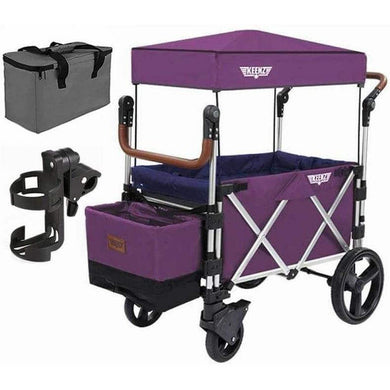 Keenz Stroller Wagon – 7S Pull/Push Wagon Stroller - Purple - Posh Baby Co.
