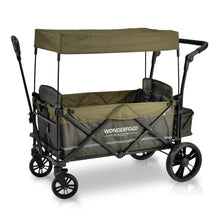 Load image into Gallery viewer, Wonderfold Wagon X2 Stroller Wagon (With Magnetic Seatbelt Buckles) - Woodland Green