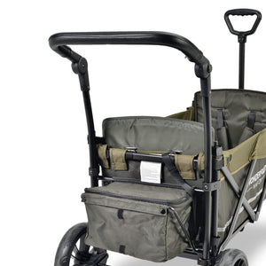 Wonderfold Wagon X2 Stroller Wagon (With Magnetic Seatbelt Buckles) - Woodland Green