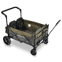 Load image into Gallery viewer, Wonderfold Wagon X4 Quad Stroller Wagon (With Magnetic Seatbelt Buckles) - Woodland Green