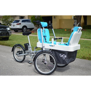Taga Family Cargo Bike Luxury Seat Padding - Blue - Posh Baby Co.