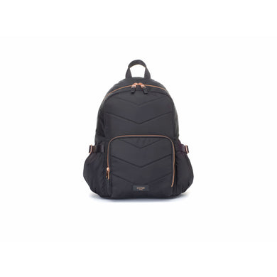 Storksak Hero Diaper Bag Backpack - Black and Rose Gold