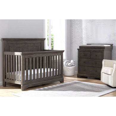 Delta Children Simmons Kids Paloma 5-Piece Baby Nursery Furniture Set - Rustic Grey - Posh Baby Co.