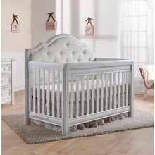 Load image into Gallery viewer, Pali Cristallo Forever 4-In-1 Convertible Crib in Vintage White - White Fabric - Posh Baby Co.