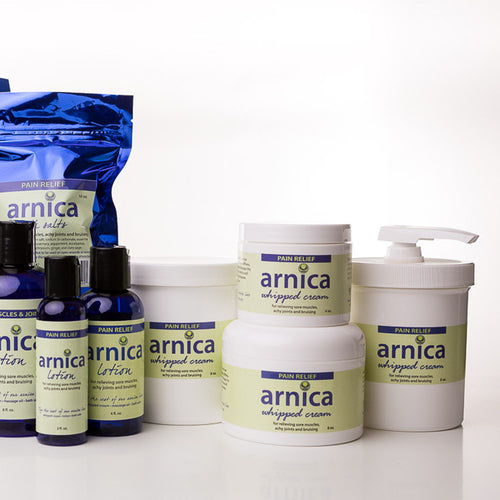 Body Lounge Arnica Whipped Cream, Massage Oil, and Body Rub Stick