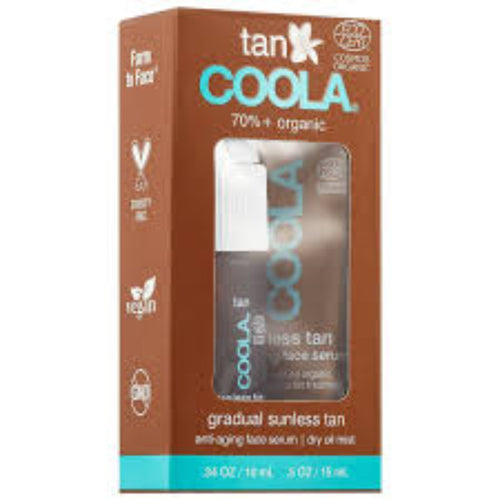 Coola Organic Sunless Tan Anti-Aging Face Serum & Dry Oil Mist Minis