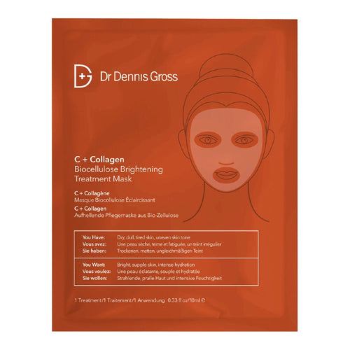 Dr. Dennis Gross C + Collagen Biocellulose Brightening Treatment Mask