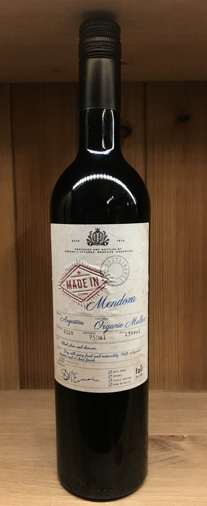 Organic Malbec, Made in Mendoza