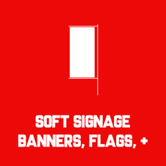 soft signage banners flags posters backlit