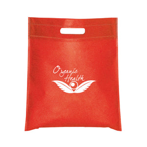 "11""x14"" SMALL NON WOVEN CUT-OUT HANDLE TOTE"