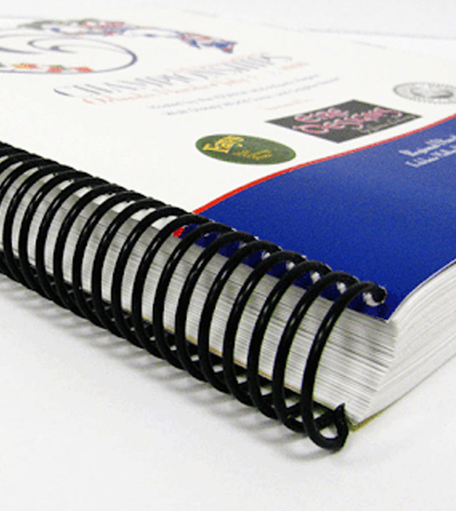 Coil Bound Booklets (Best for larger page counts)
