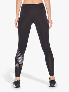 2xu mid rise compression tights rear view, 2xu leggings, 2xu tights, pose fit