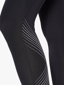 2xu mid rise compression tights inside leg detail, 2xu leggings, 2xu tights, pose fit
