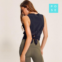 Load image into Gallery viewer, Pose Fit tops, Gym vest tops, tie back tops, fashionable gym tops, sexy gym tops,Workout Vest top, Fitness Tank Top, Pose Fit, yoga tops
