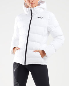 2xu utility insulation jacket, 2xu womens jacket, womens jacket white, womens padded jacket uk, pose fit