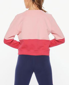 2XU Colour block sweat back view, 2xu uk, 2xu sweater, womens sweaters, womens oversized sweaters, 2xu, pose fit