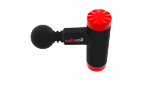 pulseroll massage gun mini aerial view, pose fit