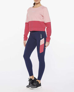2XU Colour block sweat full body view, 2xu uk, 2xu sweater, womens sweaters, womens oversized sweaters, 2xu, pose fit