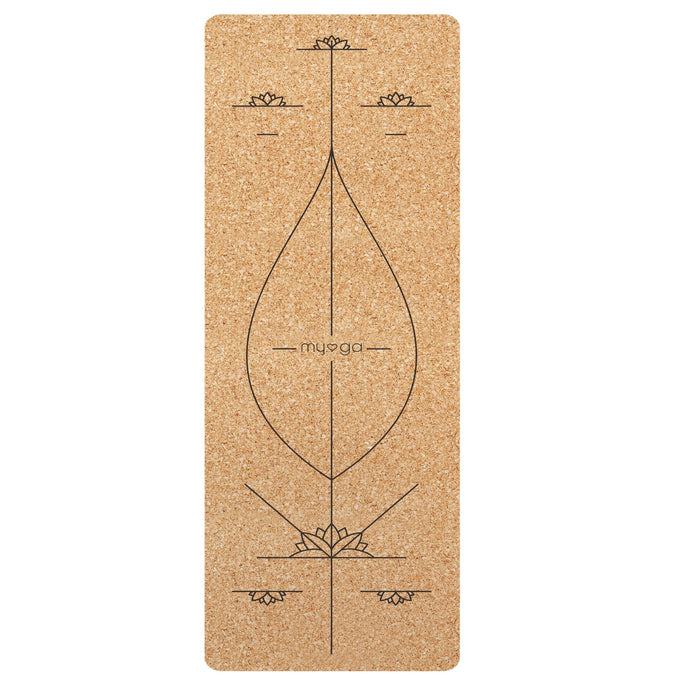 Myga Alignment XL Cork Yoga Mat, Pose Fit, Cork Yoga Mat, eco friendly yoga mat, eco friendly exercise mat