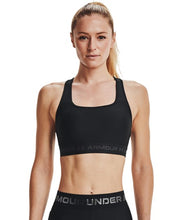 Load image into Gallery viewer, Under Armour Mid Crossback Sports Bra Black, Under Armour Sport Bra, Pose Fit