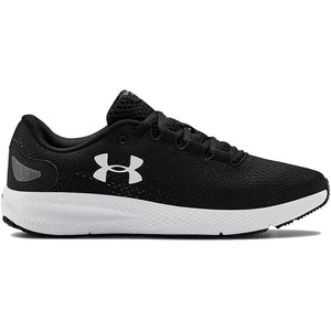 under armour charged pursuit 2 womens trainers black and white, pose fit