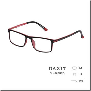 DA LUCE 317 BLACK/BURGUNDY