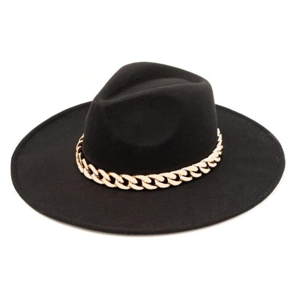 Lucca Couture Paco Black Chunky Fedora