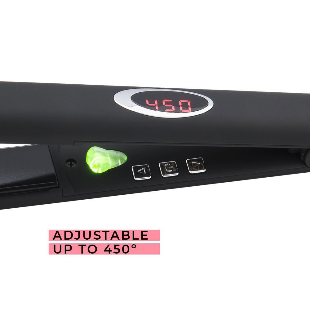 "Aria Beauty 1"" Black Infrared Ceramic Hair Straightener"