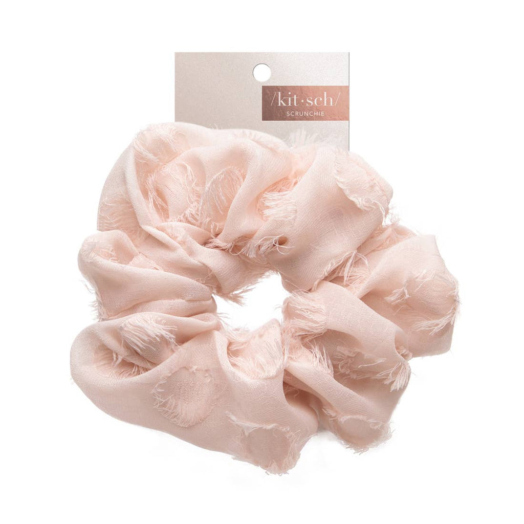 Kitsch Brunch Scrunchie - Frayed Blush