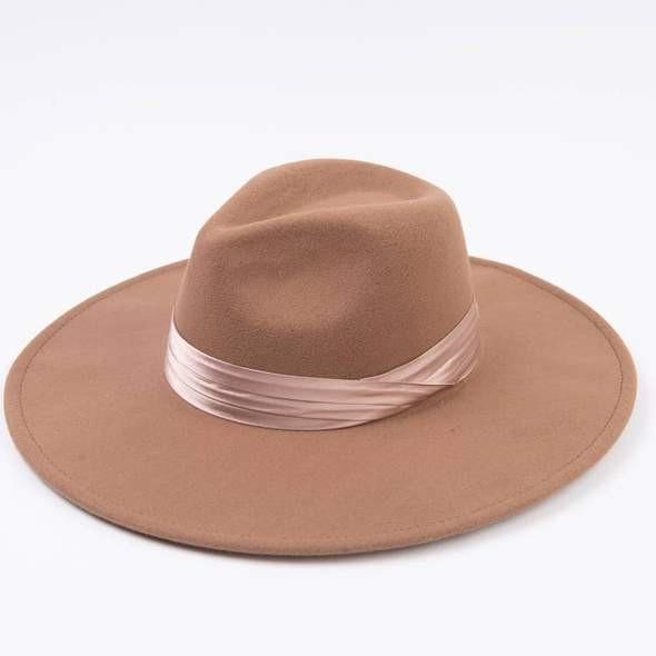 Sunset Shine Taupe Fedora