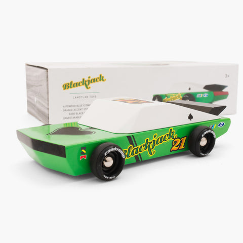 Blackjack Wooden Car