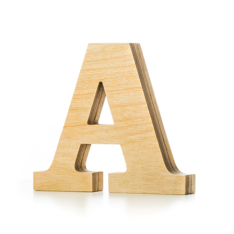 a wooden letter