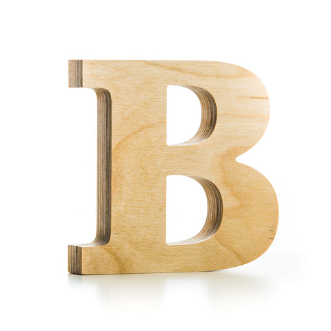 Wooden letters wooden home decoration ideas mr wood for Big wooden letter b