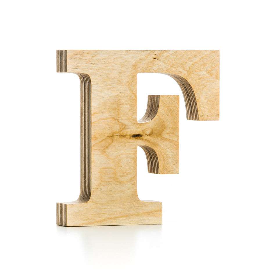 F - wooden letter