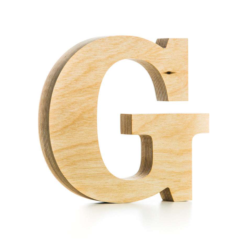 Wooden letter crafted from quality birch plywood, hand-finished ...