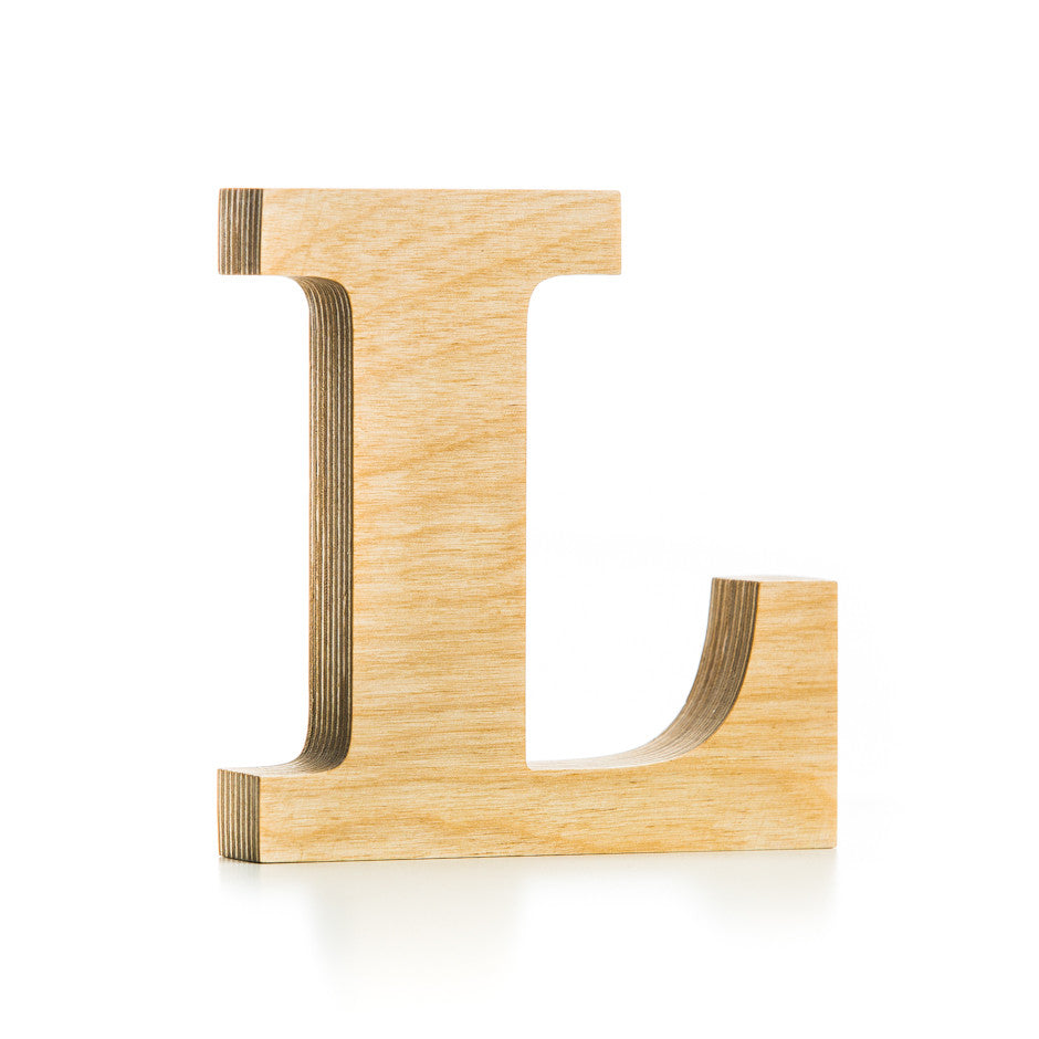 wooden letter l wooden letter crafted from quality birch plywood 16941