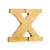 X - wooden letter