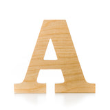 A - wooden letter