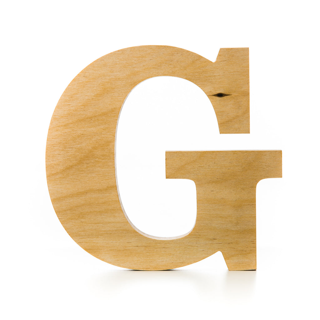 Wooden letter crafted from quality birch plywood, hand finished