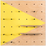 Pegboard Zinc Yellow Triangle