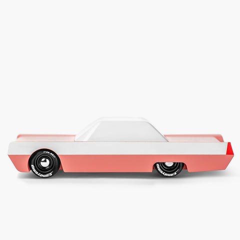 Pink Flowmingo Wooden Car