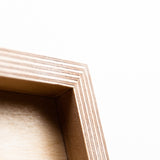 detail of wooden poster finish | Mr.Wood