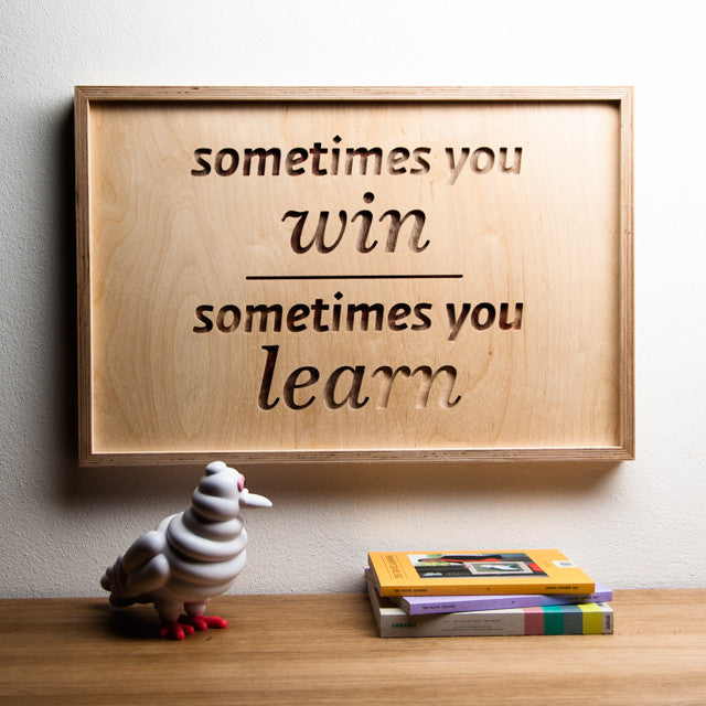 SOMETIMES - wooden inspirational poster | Mr.Wood