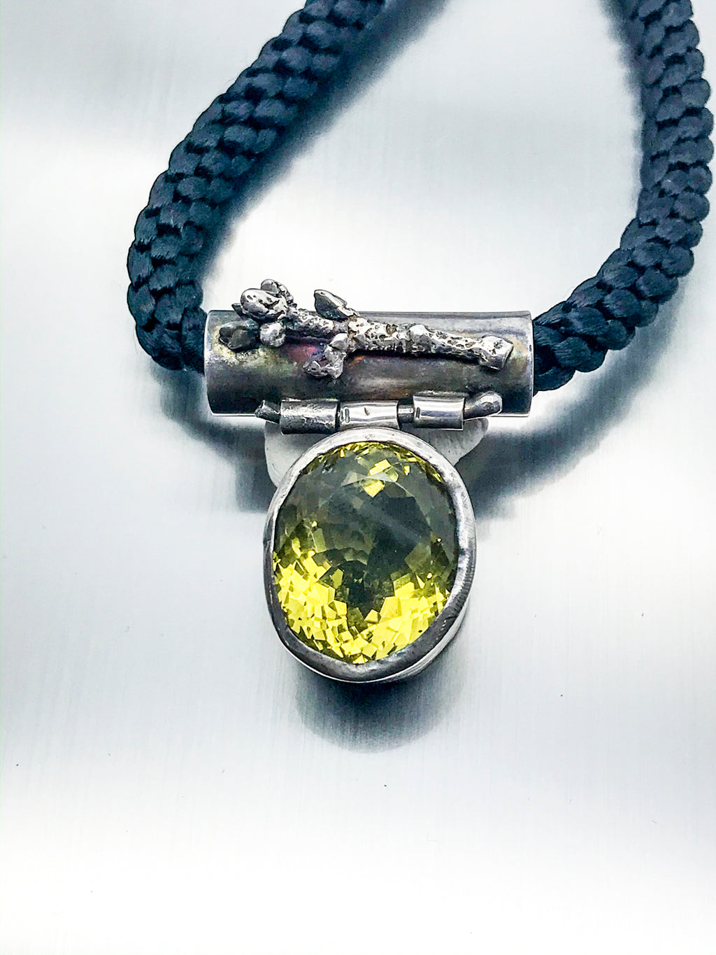 Citrine Branch Cast Pendant