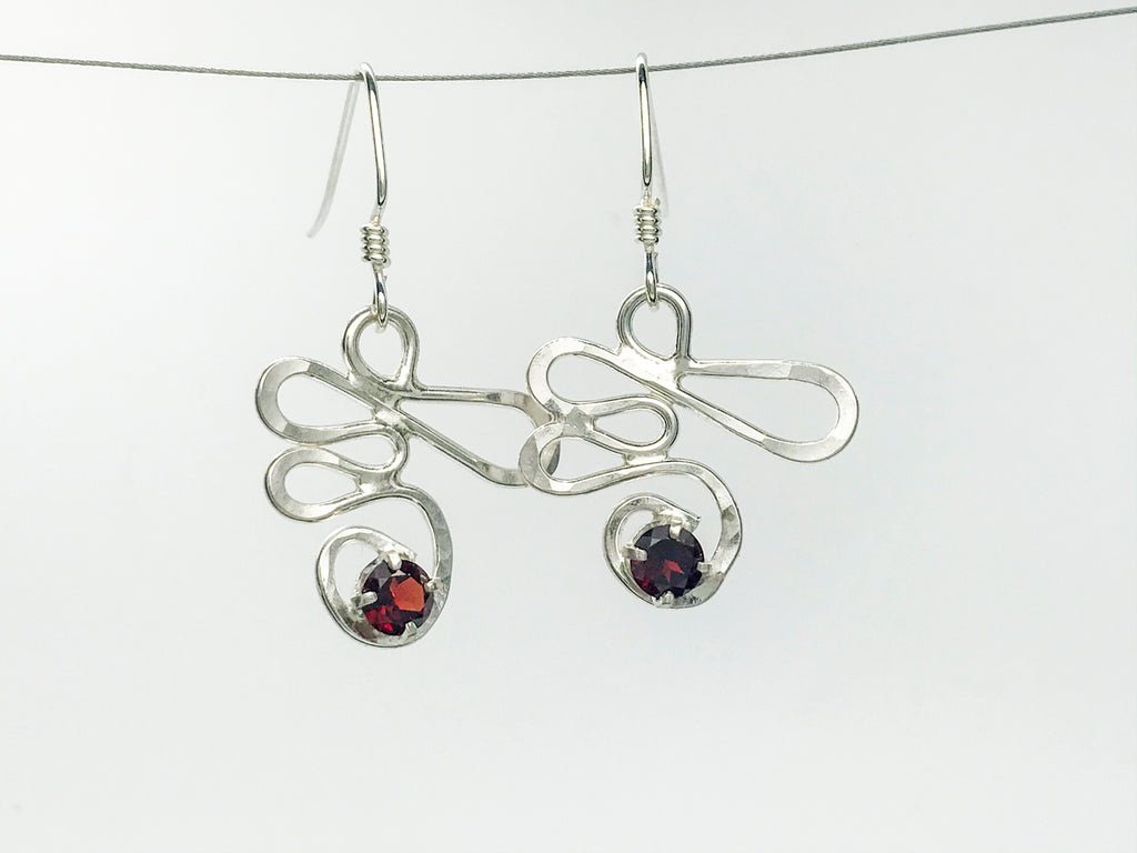 Silver squiggle Earrings