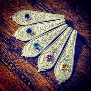 Antique art deco silver spoon pendants