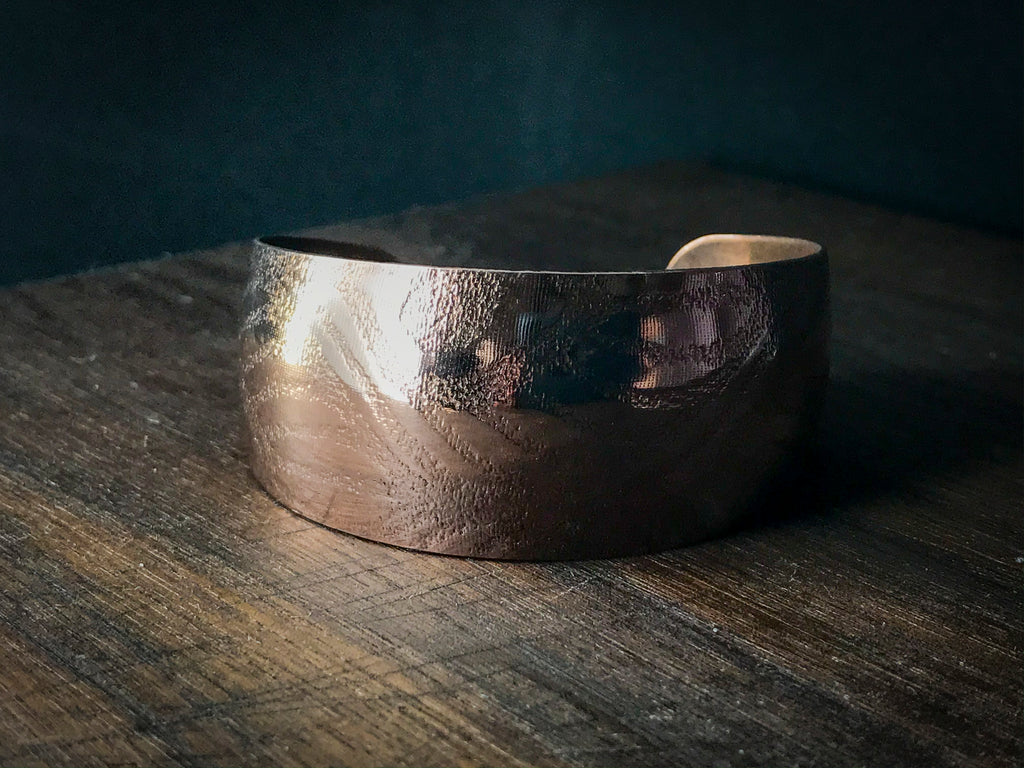 Synclastic Cuff Bracelet-  Peacock in Copper Small 6 inch