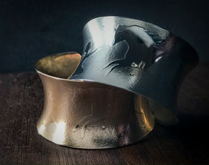 Kids sized Unicorn Cuff Bracelet - Bronze/Nickel silver