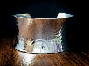 Anticlastic Cuff Bracelet- Spirals in Nickel Silver